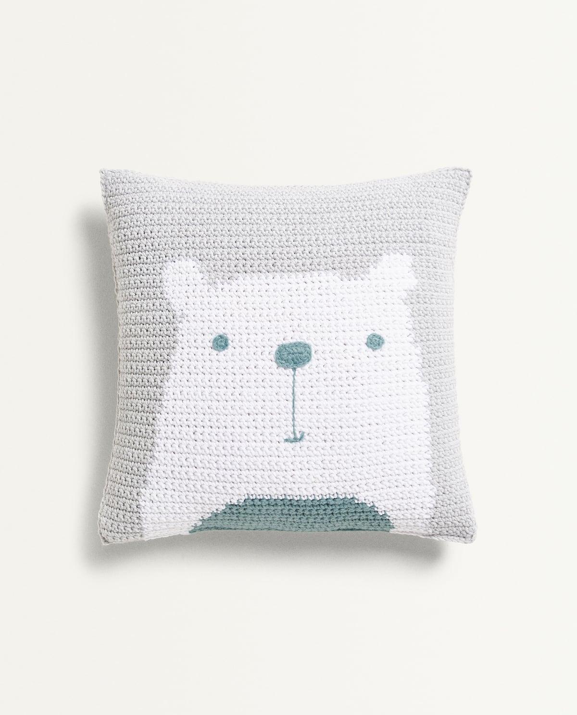 Bear Throw Pillow  Kids   Mid Season Sale by Zara Home