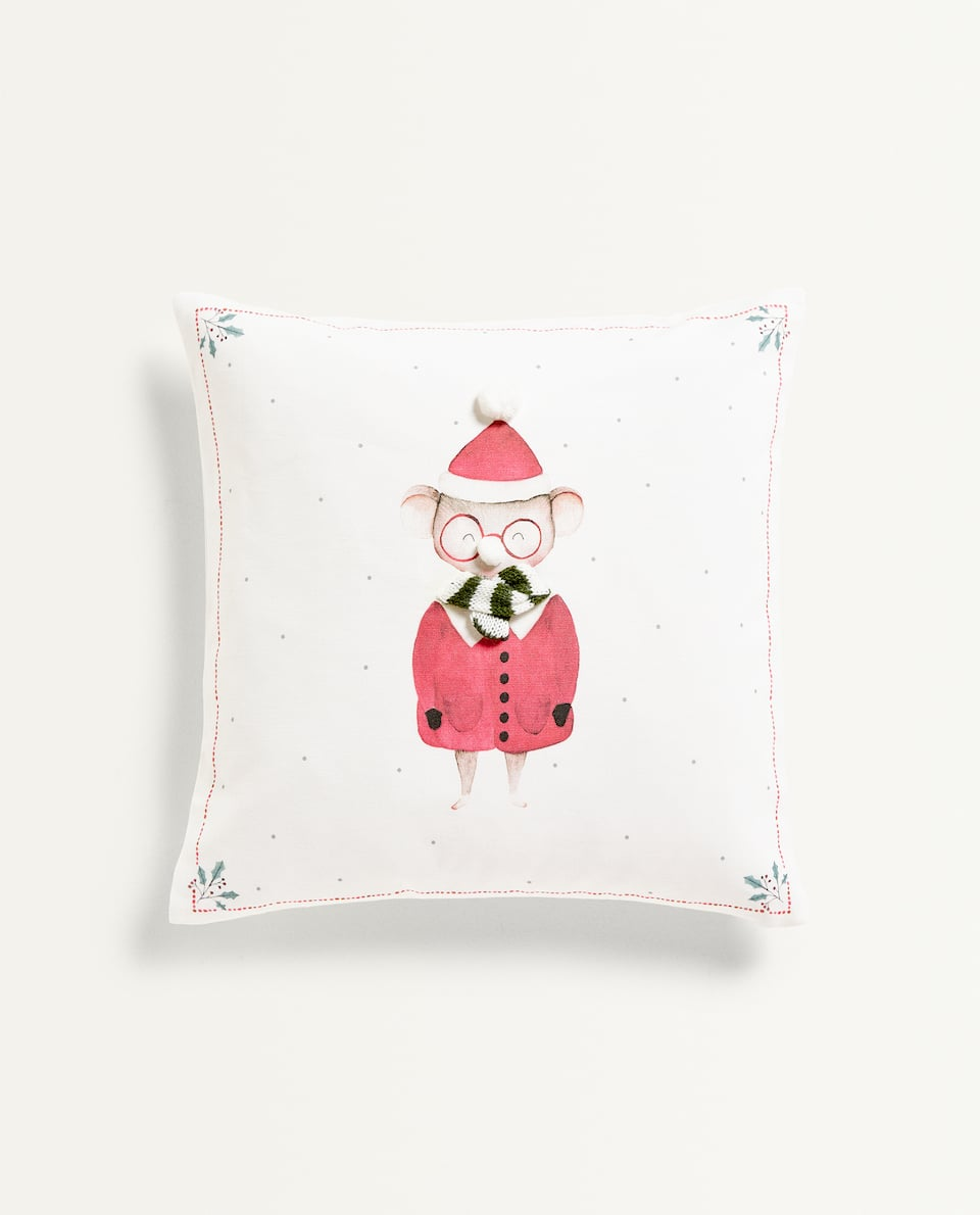 MOUSE PRINT CUSHION COVER