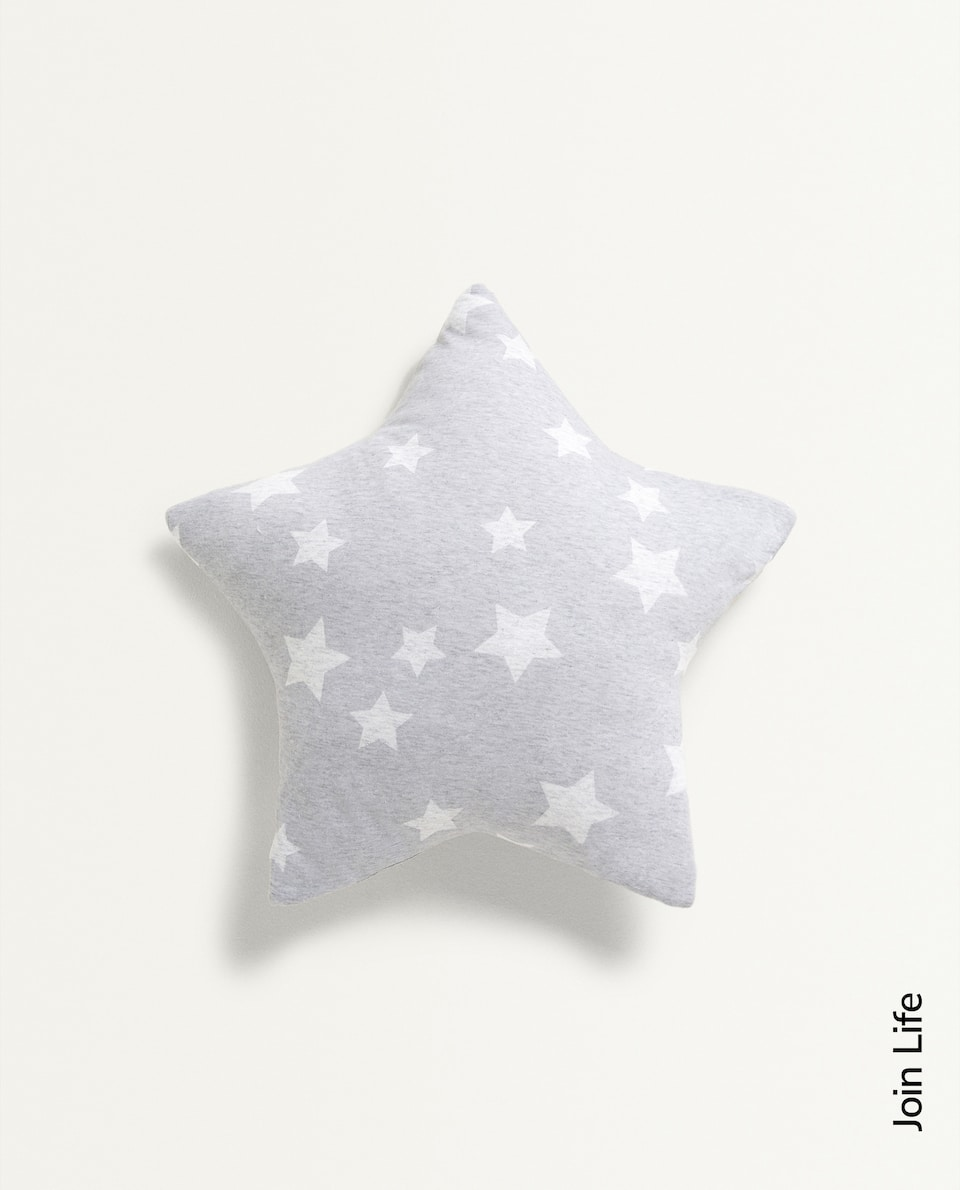 STAR PRINT JERSEY FABRIC CUSHION COVER