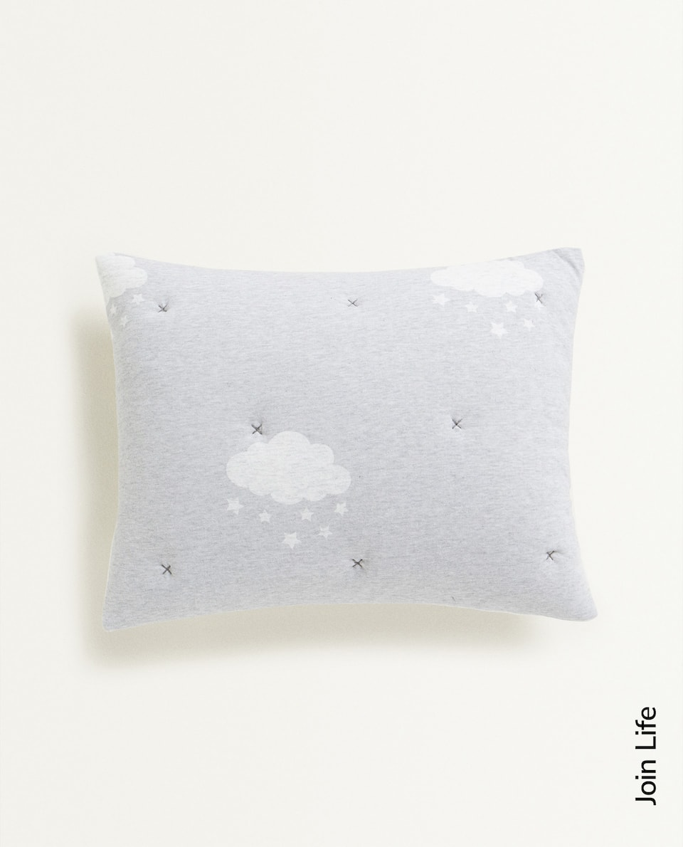 CLOUD PRINT JERSEY FABRIC CUSHION COVER