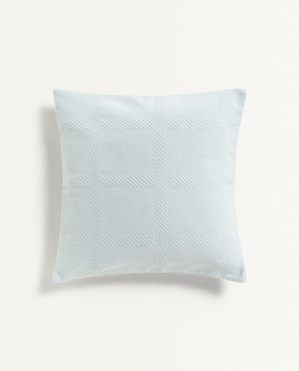 CHECK TEXTURE CUSHION COVER