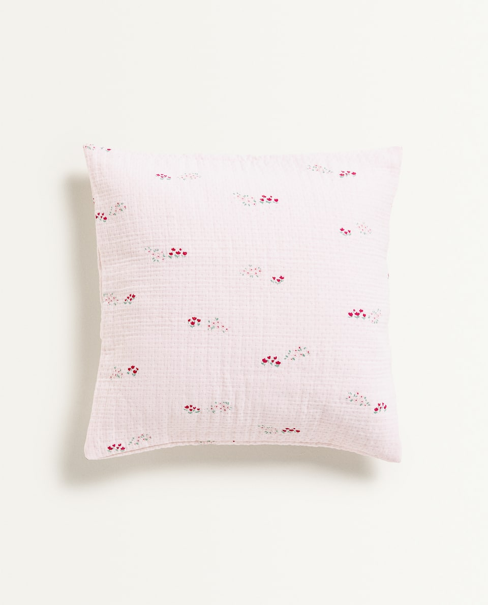 PRINTED GAUZE CUSHION COVER