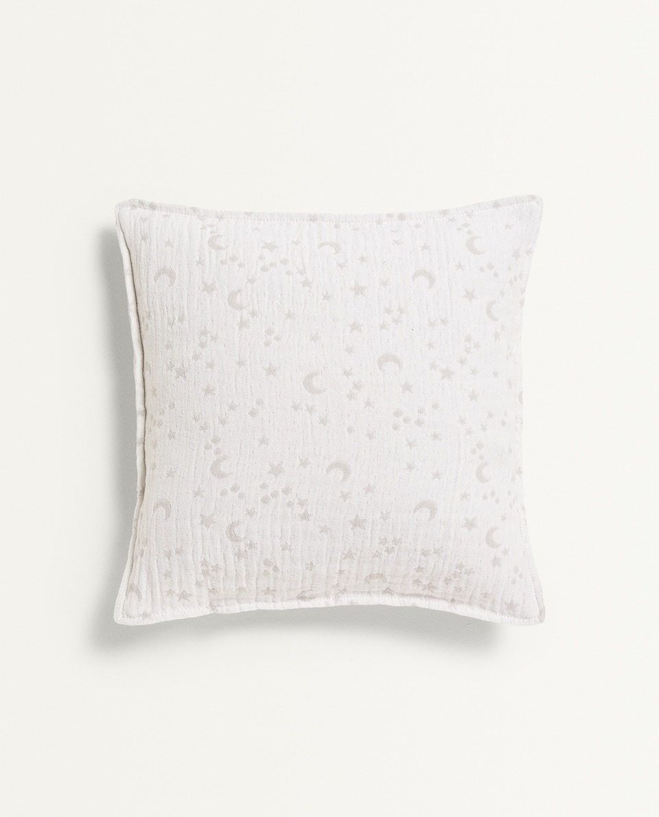 STAR AND MOON CUSHION COVER