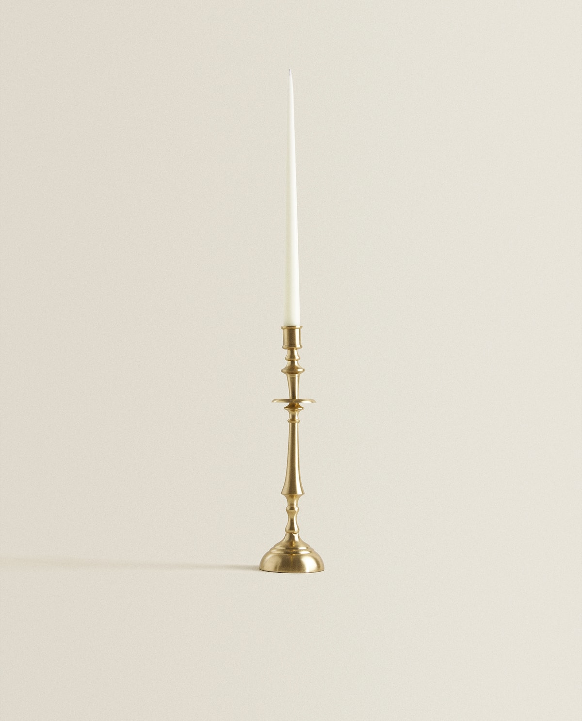 Gold Candlestick With Column Knops  Candlesticks And Tealight Holders   Decoration   Bedroom by Zara Home