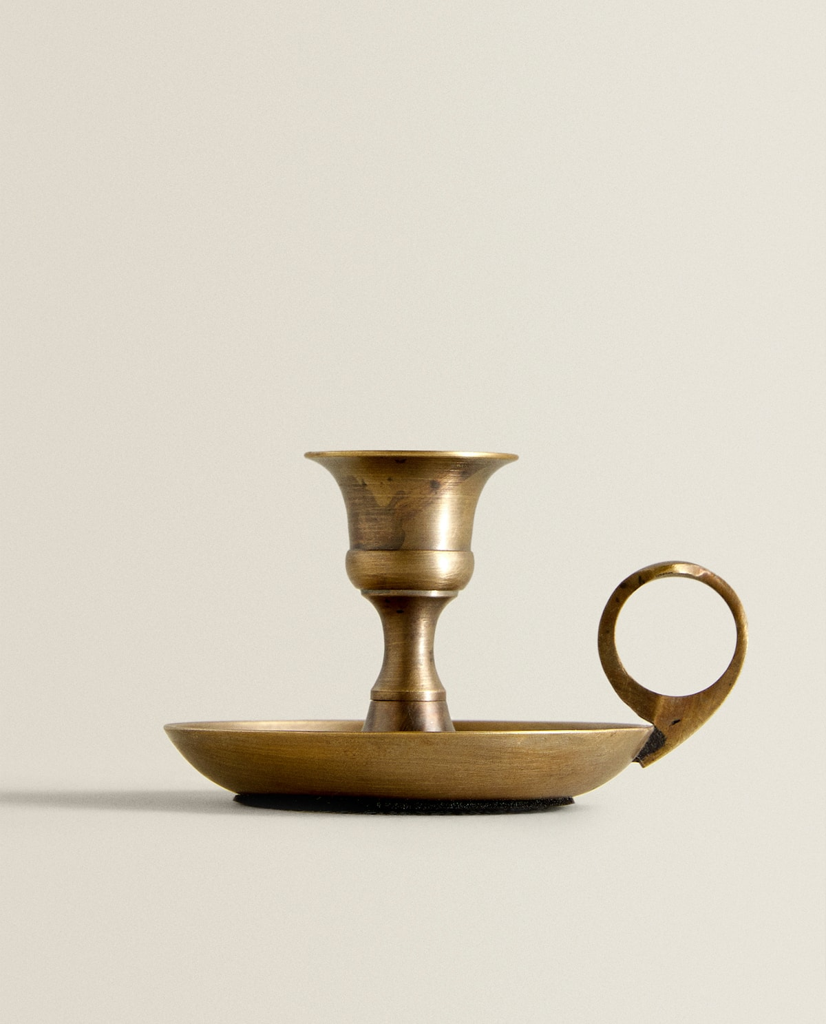 Gold Antique Finish Candlestick  Candlesticks And Tealight Holders   Decoration   Bedroom by Zara Home