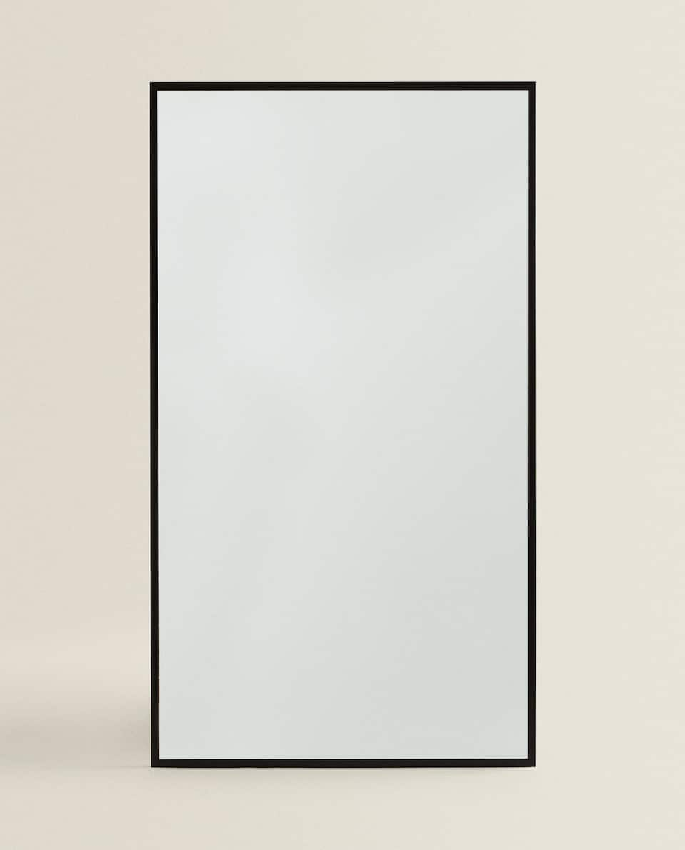 LARGE BLACK FRAMED MIRROR