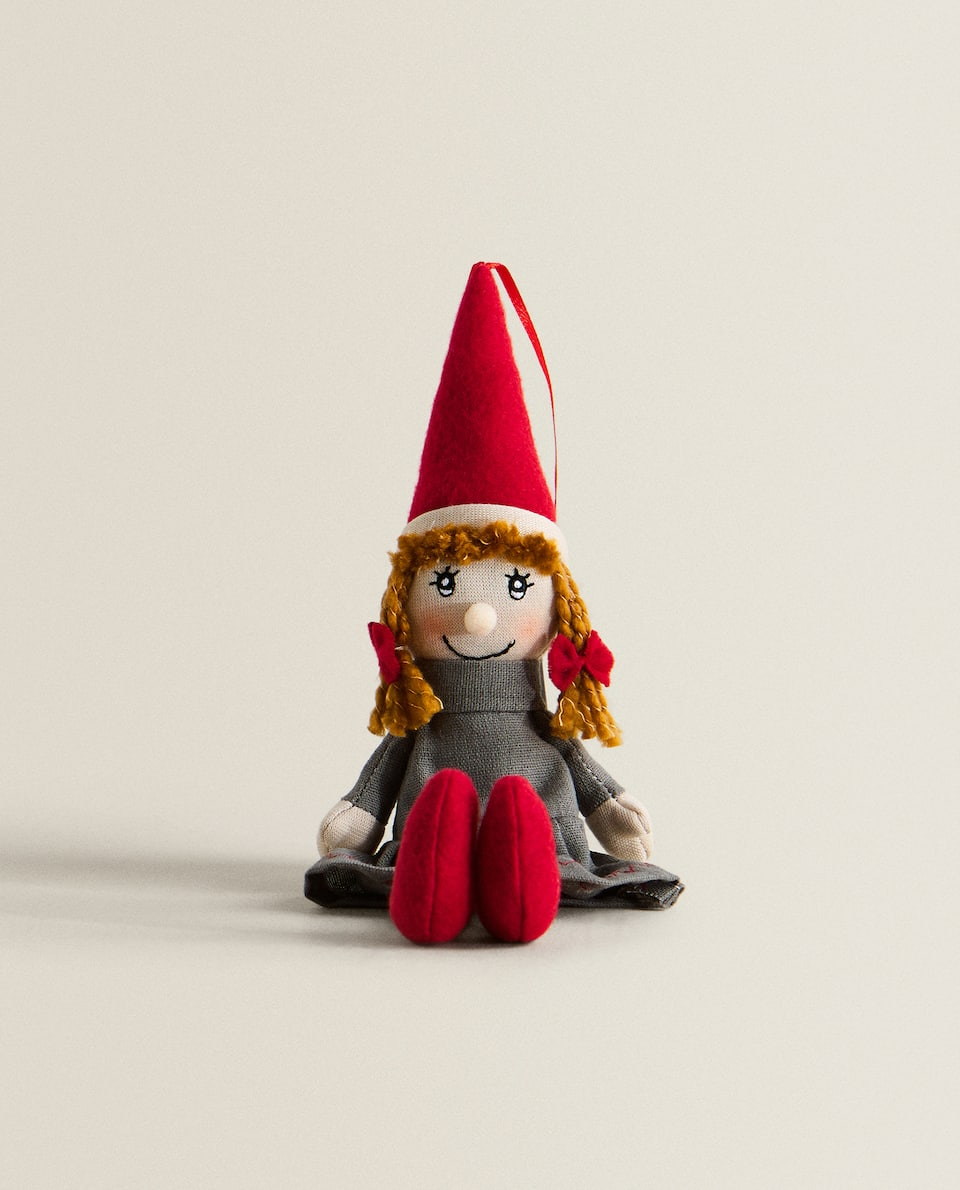 LITTLE GIRL ELF DECORATIVE FIGURE