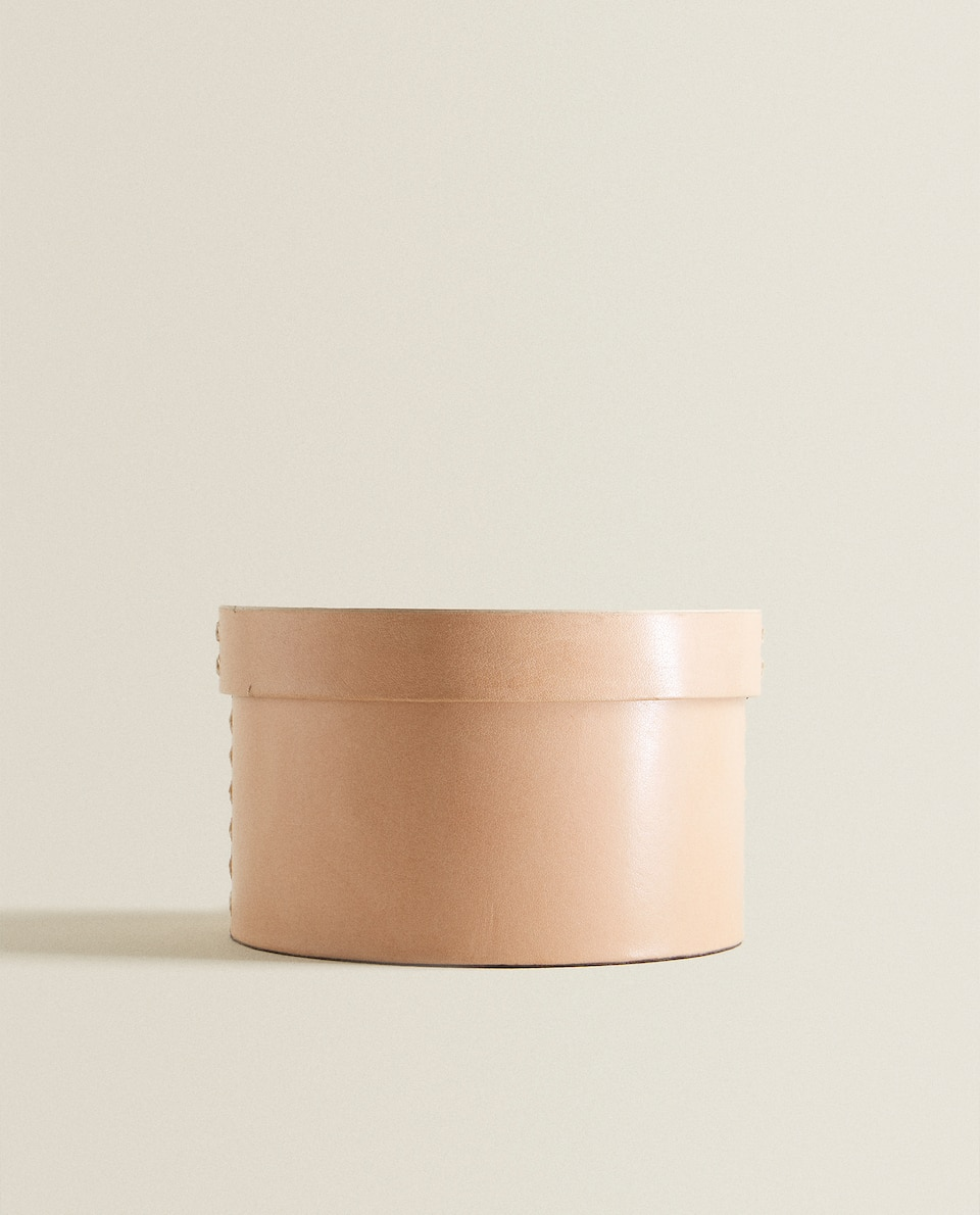 LEATHER ROUND BOX