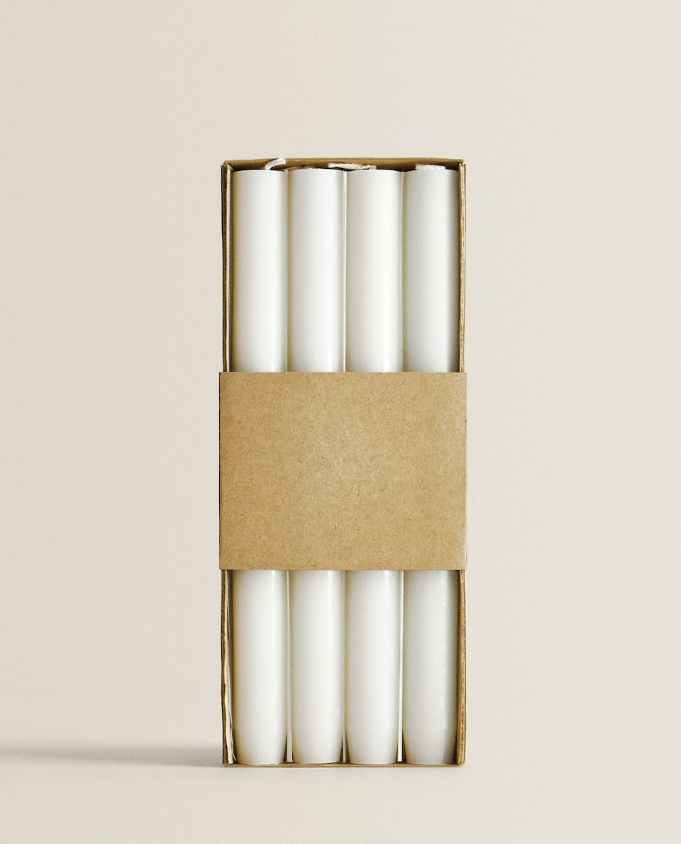 LONG WHITE CANDLE (PACK OF 4)