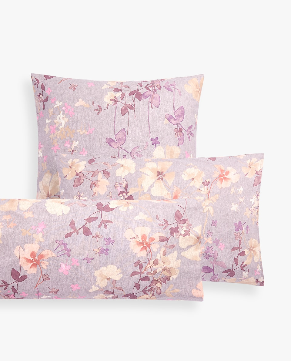 FLOWER PRINT PILLOWCASE