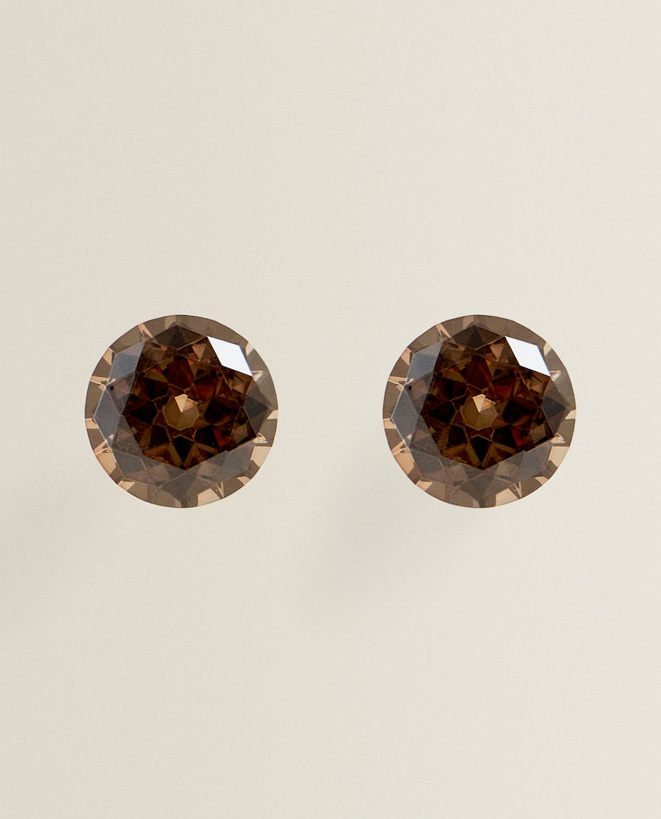 SMOKY CRYSTAL DOOR KNOB (PACK OF 2)