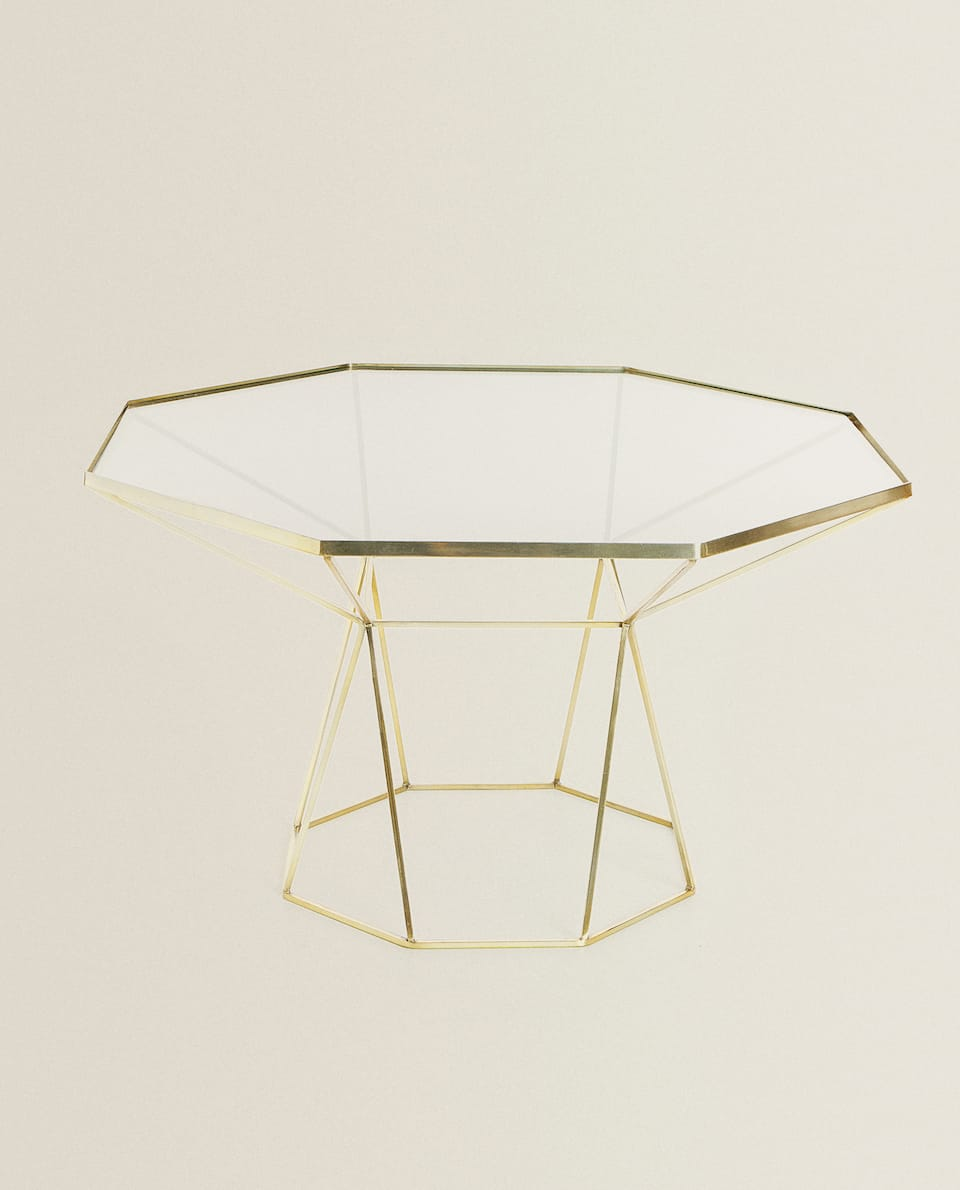 GOLDEN OCTAGONAL TABLE