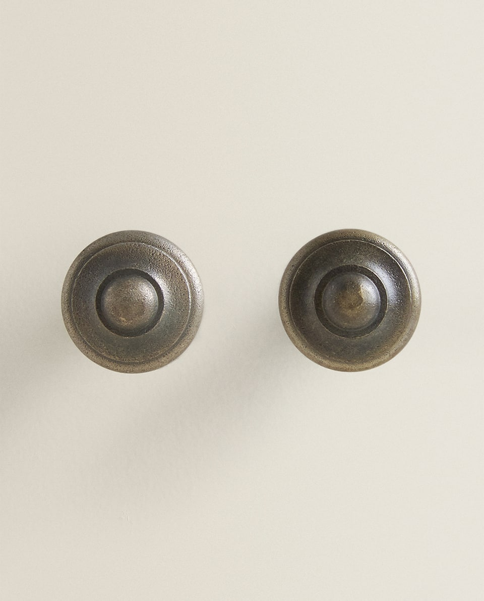 ROUND METAL DOOR KNOB (PACK OF 2)