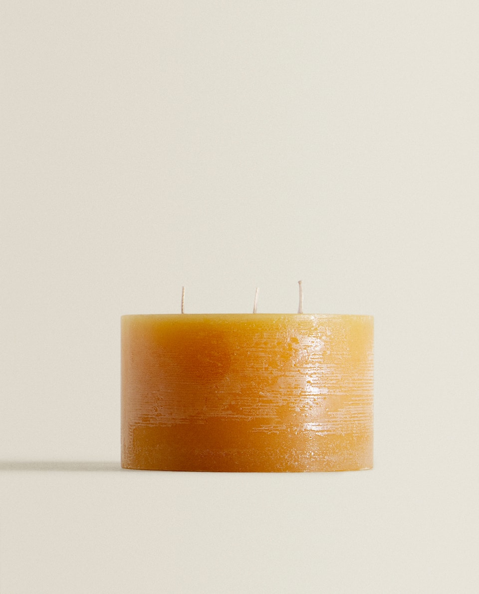 RUSTIC CYLINDRICAL CANDLE