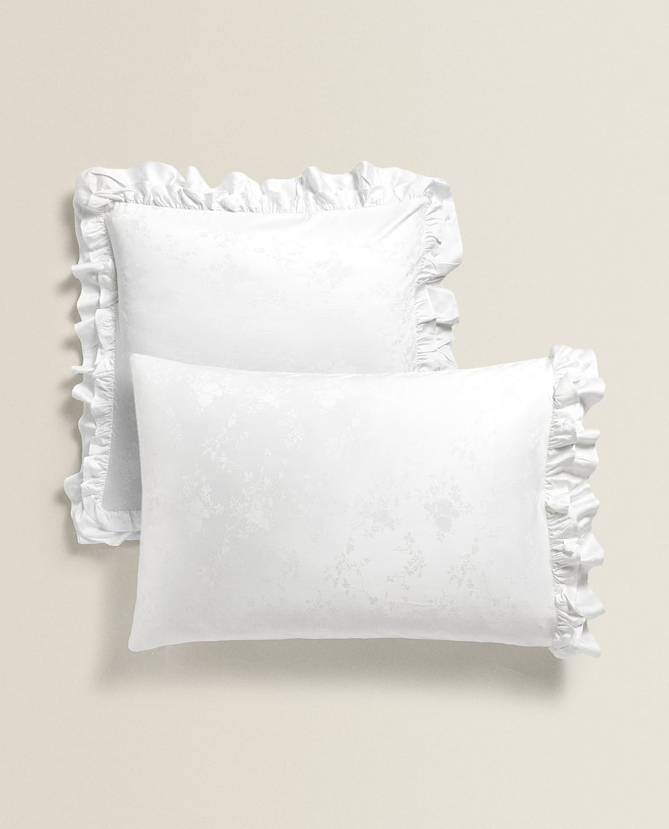 SATEEN FLORAL JACQUARD PILLOWCASE