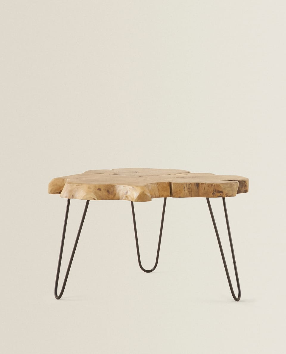 IRREGULAR TEAK TABLE