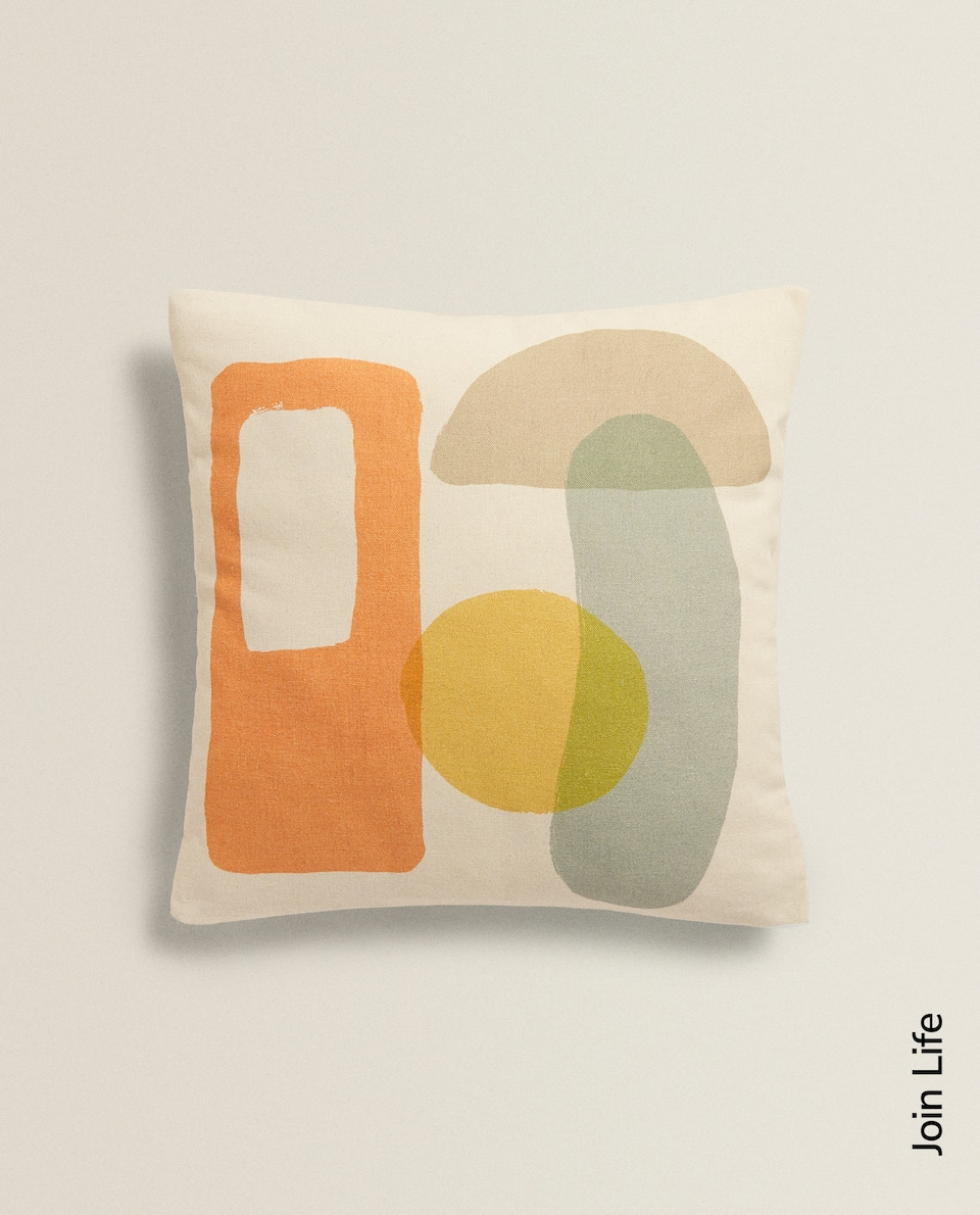 CUSHION COVER WITH ABSTRACT PRINT