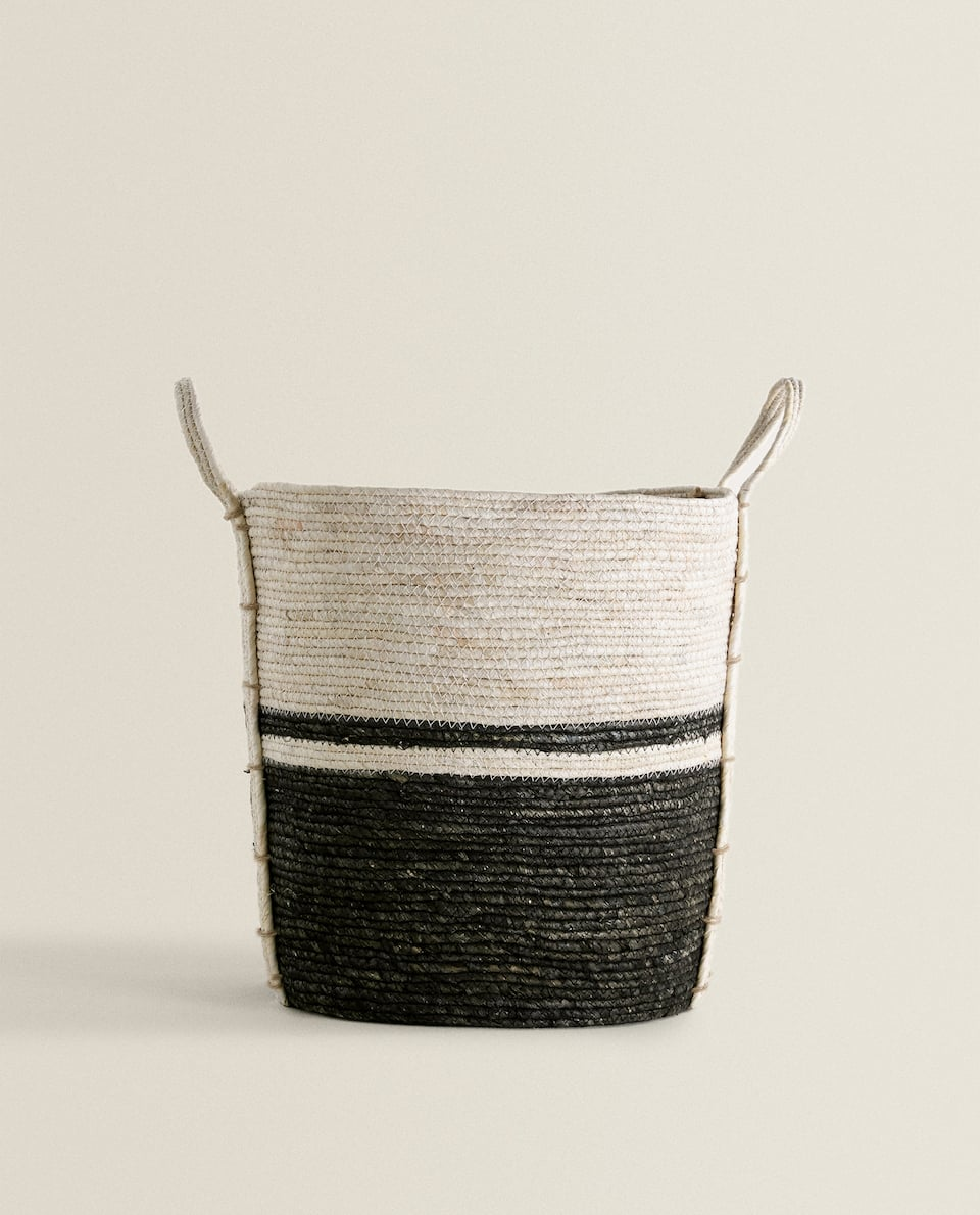 MAIZE BASKET WITH HANDLES