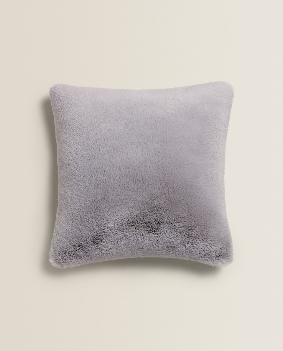 FAUX FUR CUSHION COVER