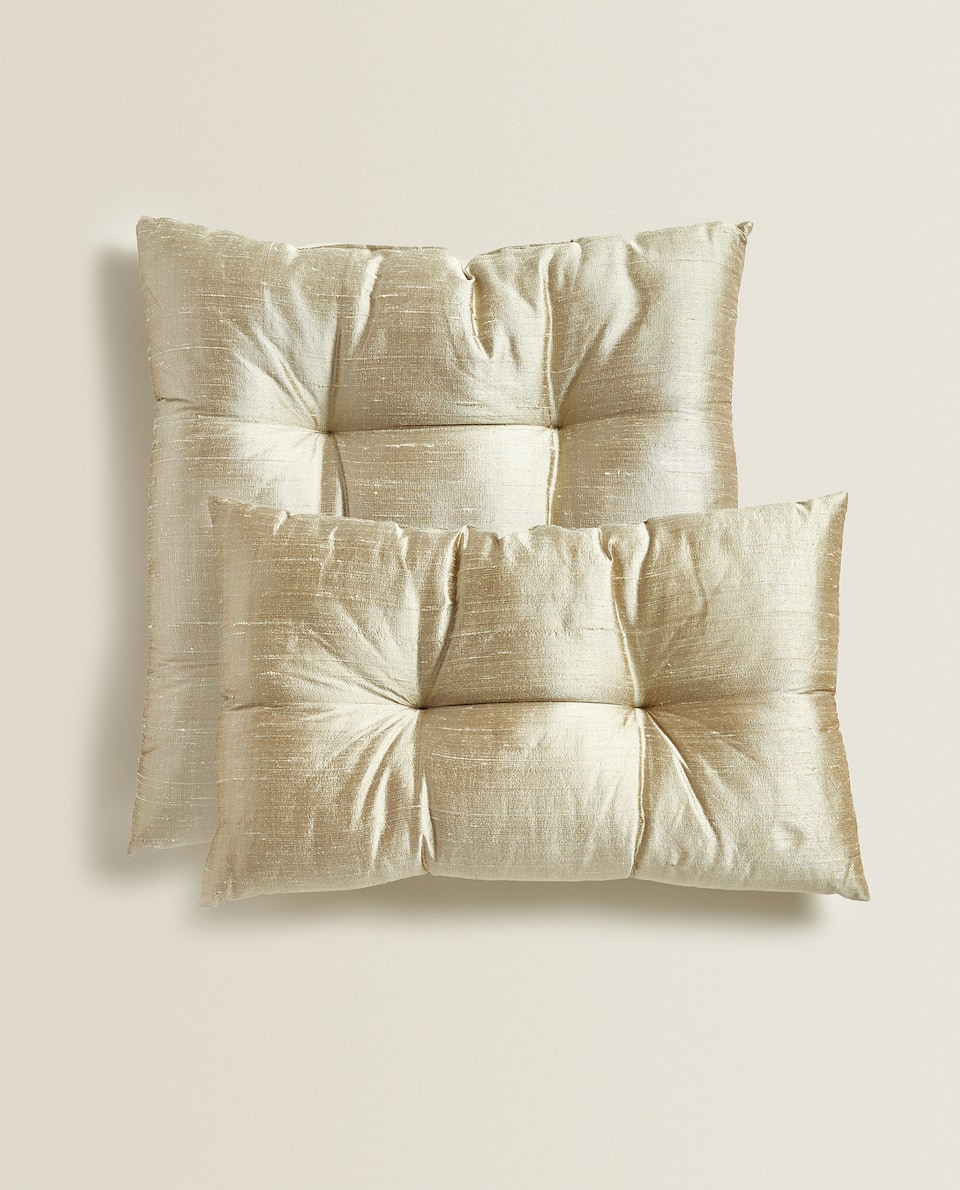 UPHOLSTERED SILK CUSHION