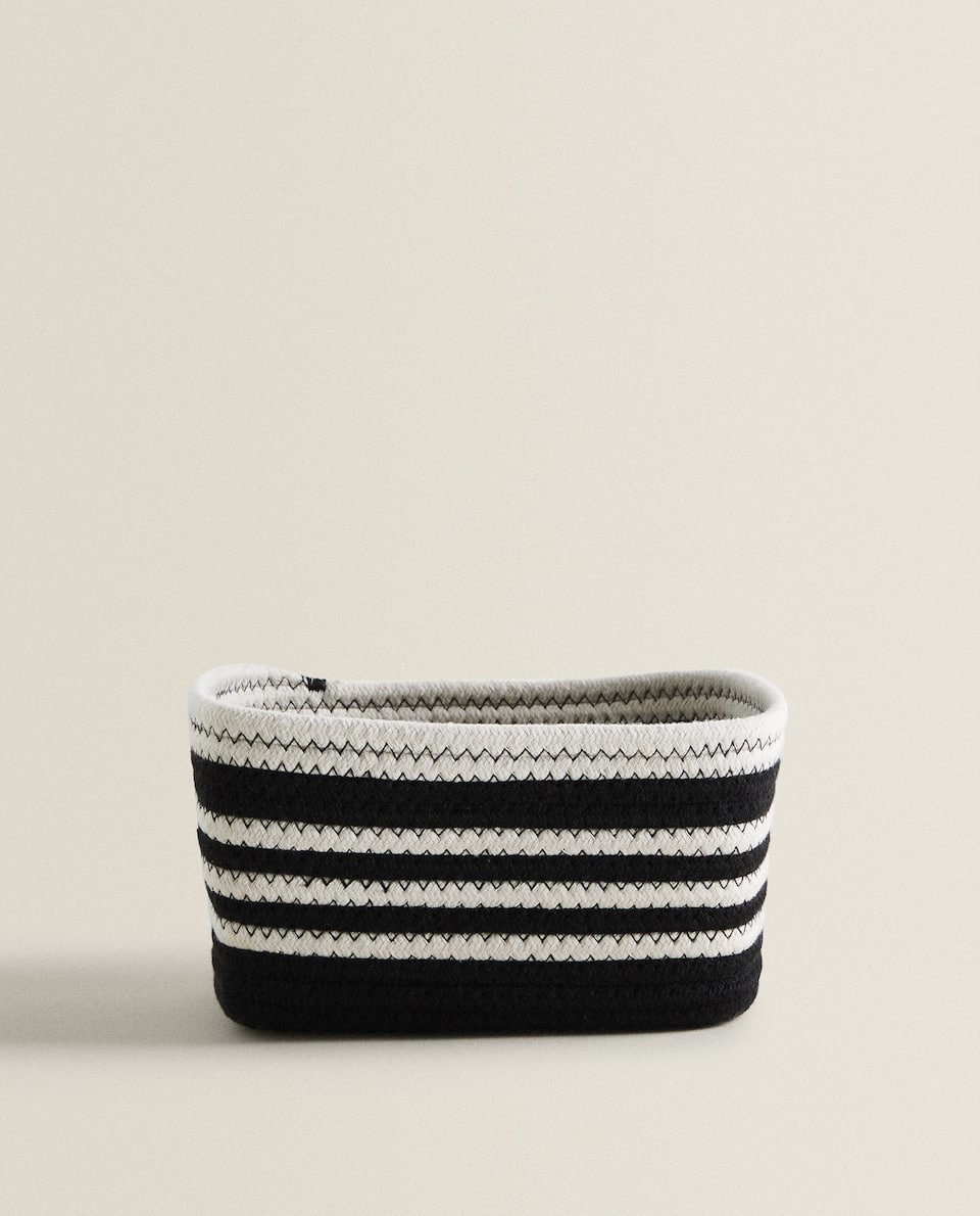 STRIPED COTTON BASKET