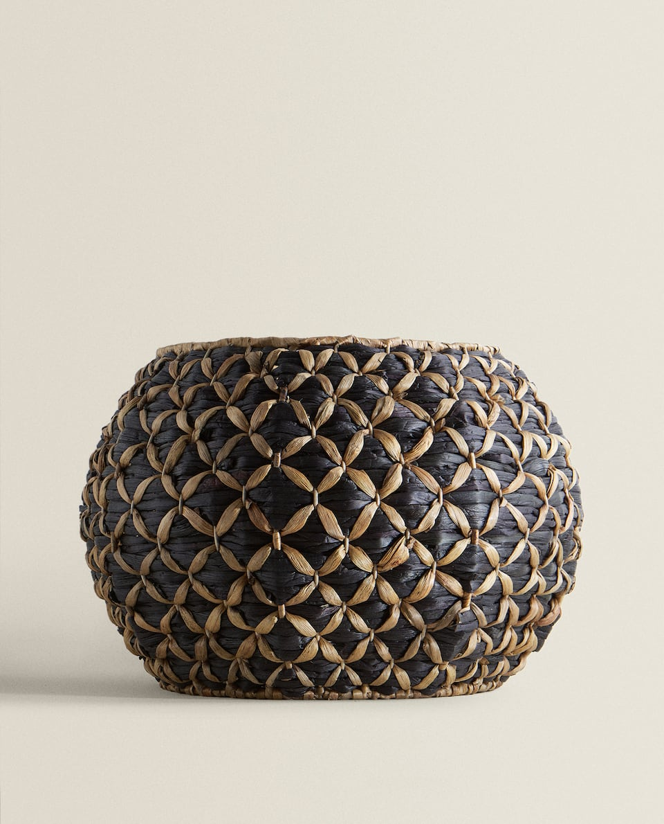 LARGE TWO-TONE BASKET