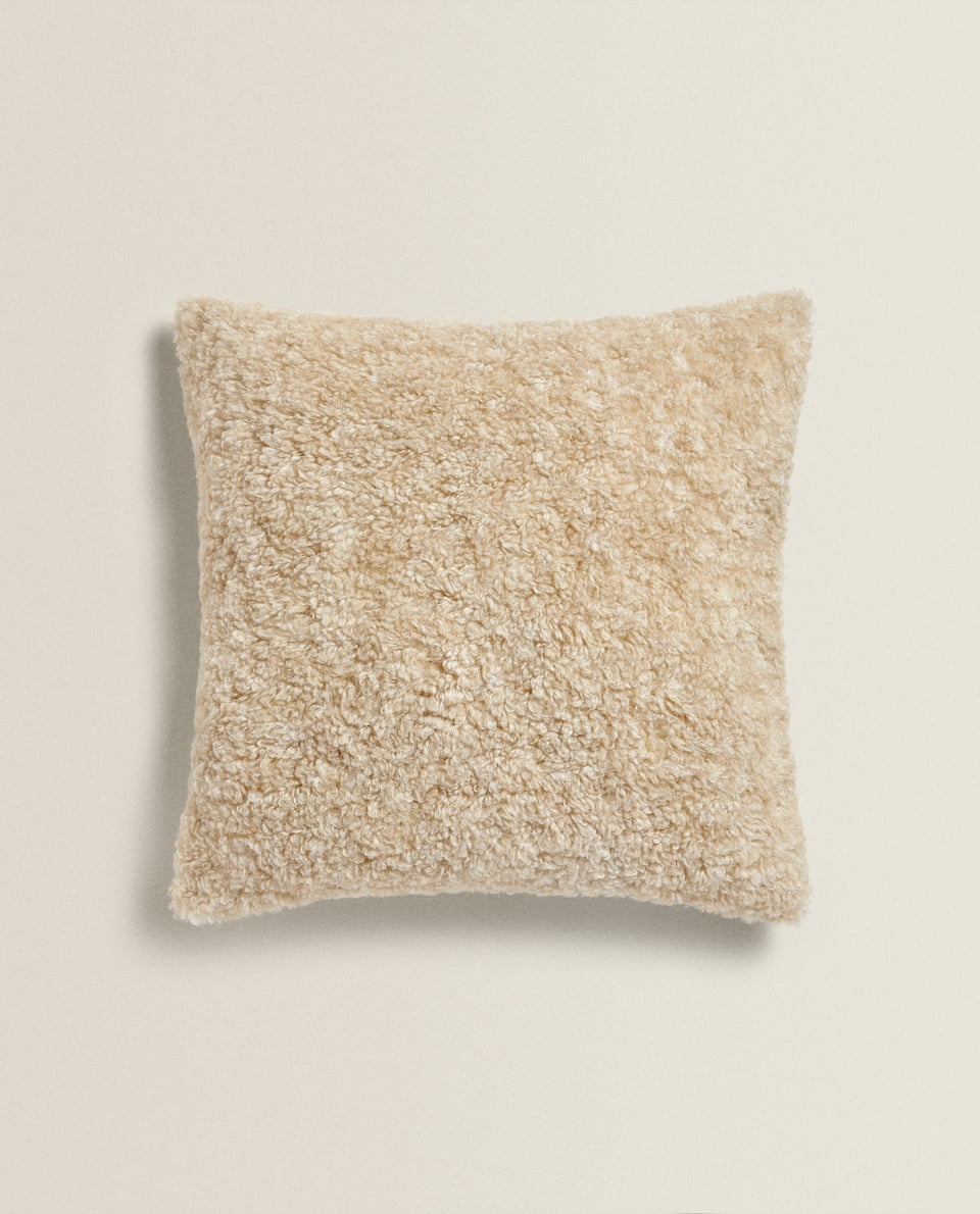 FAUX SHEARLING CUSHION COVER