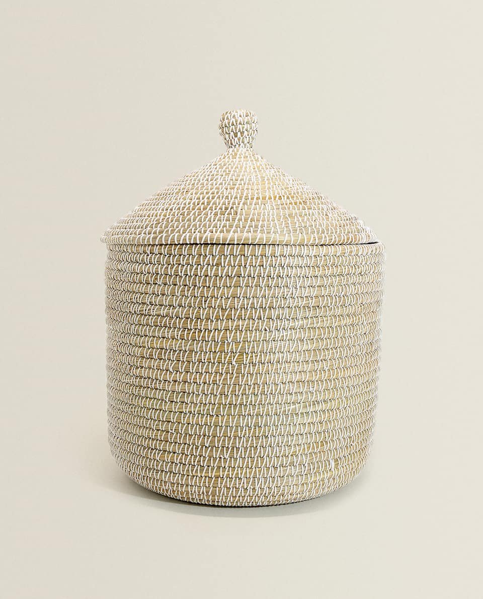 BASKET WITH CONICAL LID