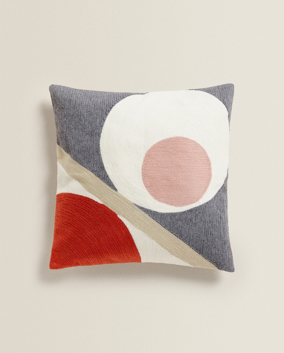 CUSHION COVER WITH ABSTRACT DESIGN