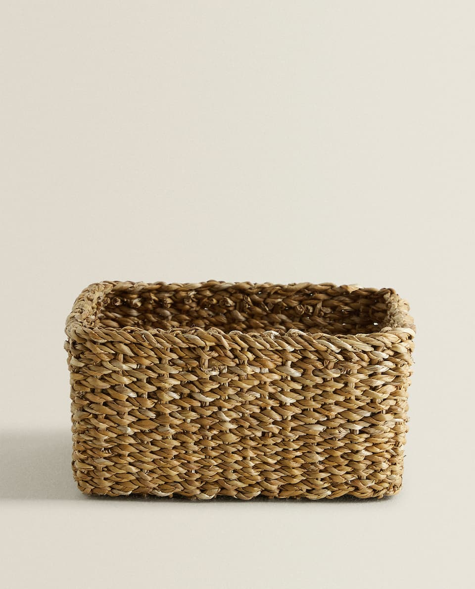 WICKER SQUARE BASKET