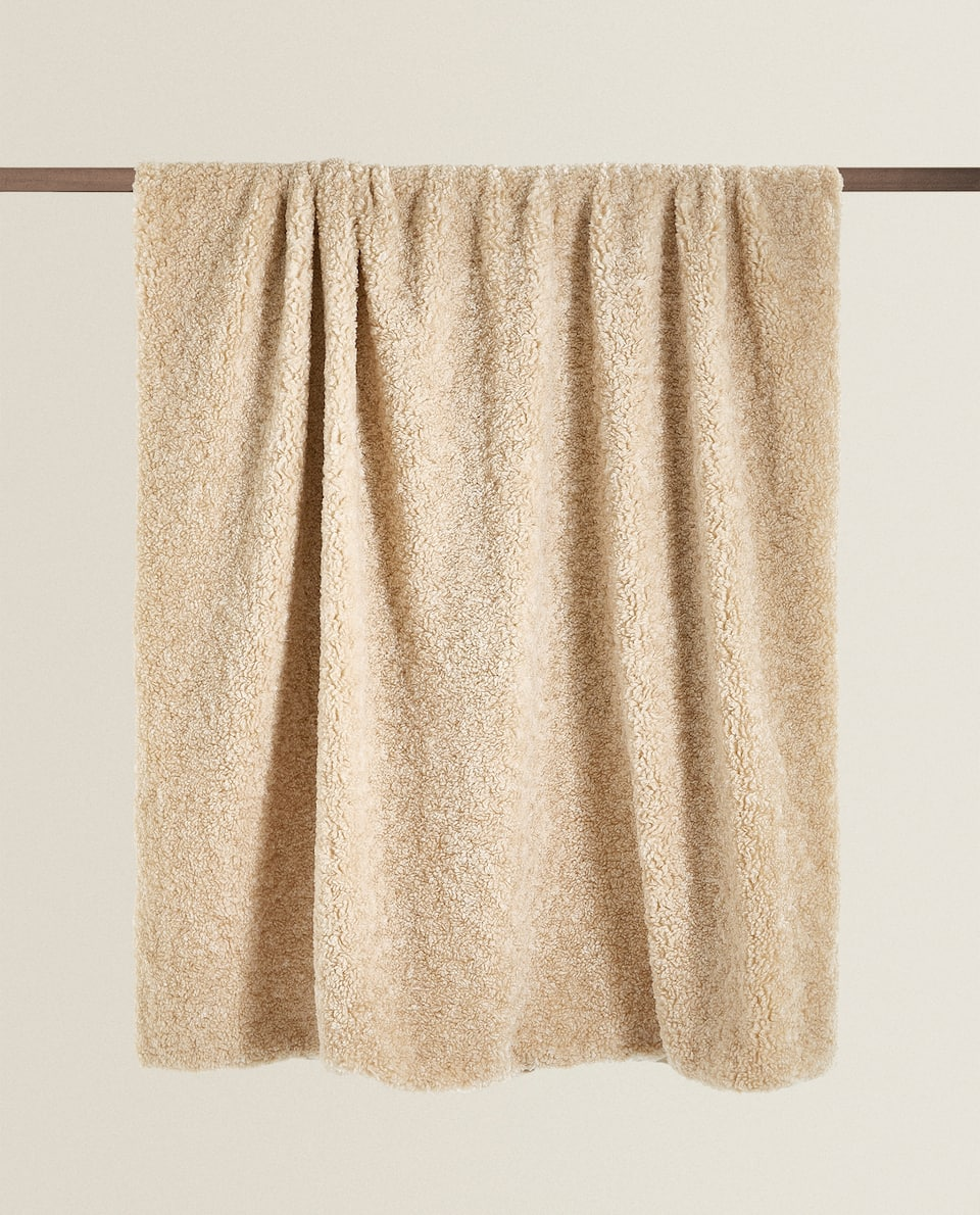 FAUX SHEARLING BLANKET