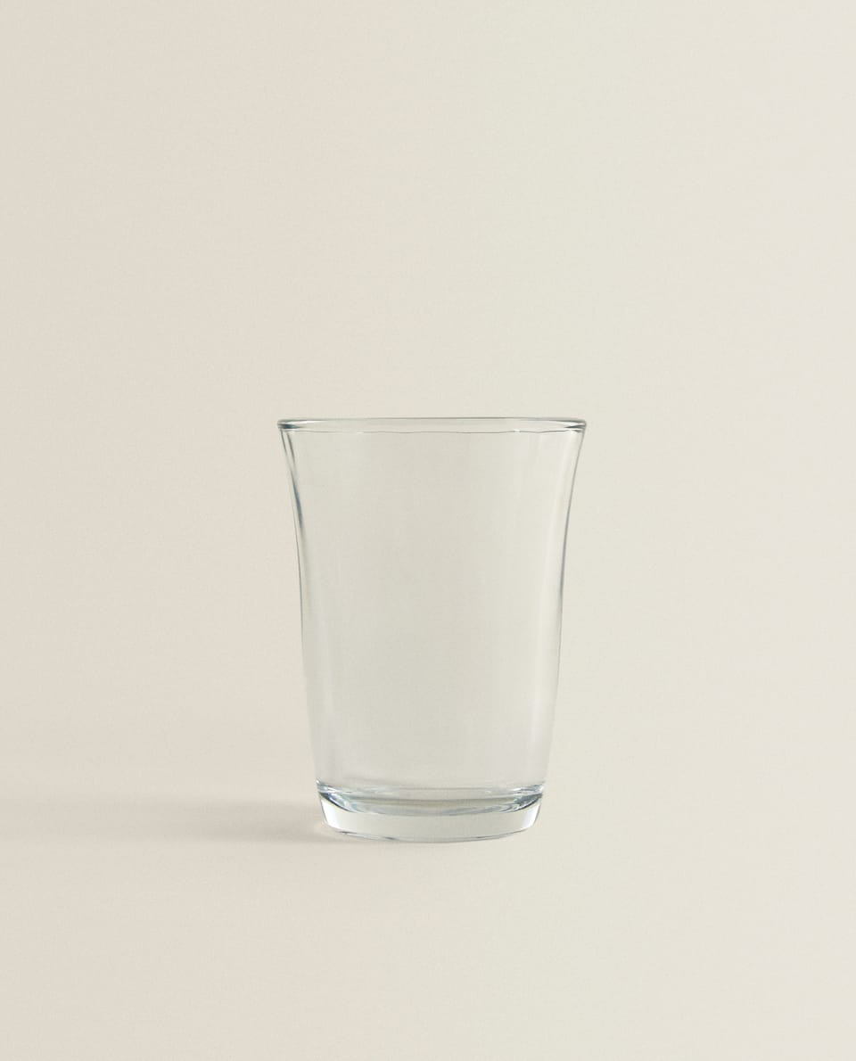 THICK TRANSPARENT WATER GLASS