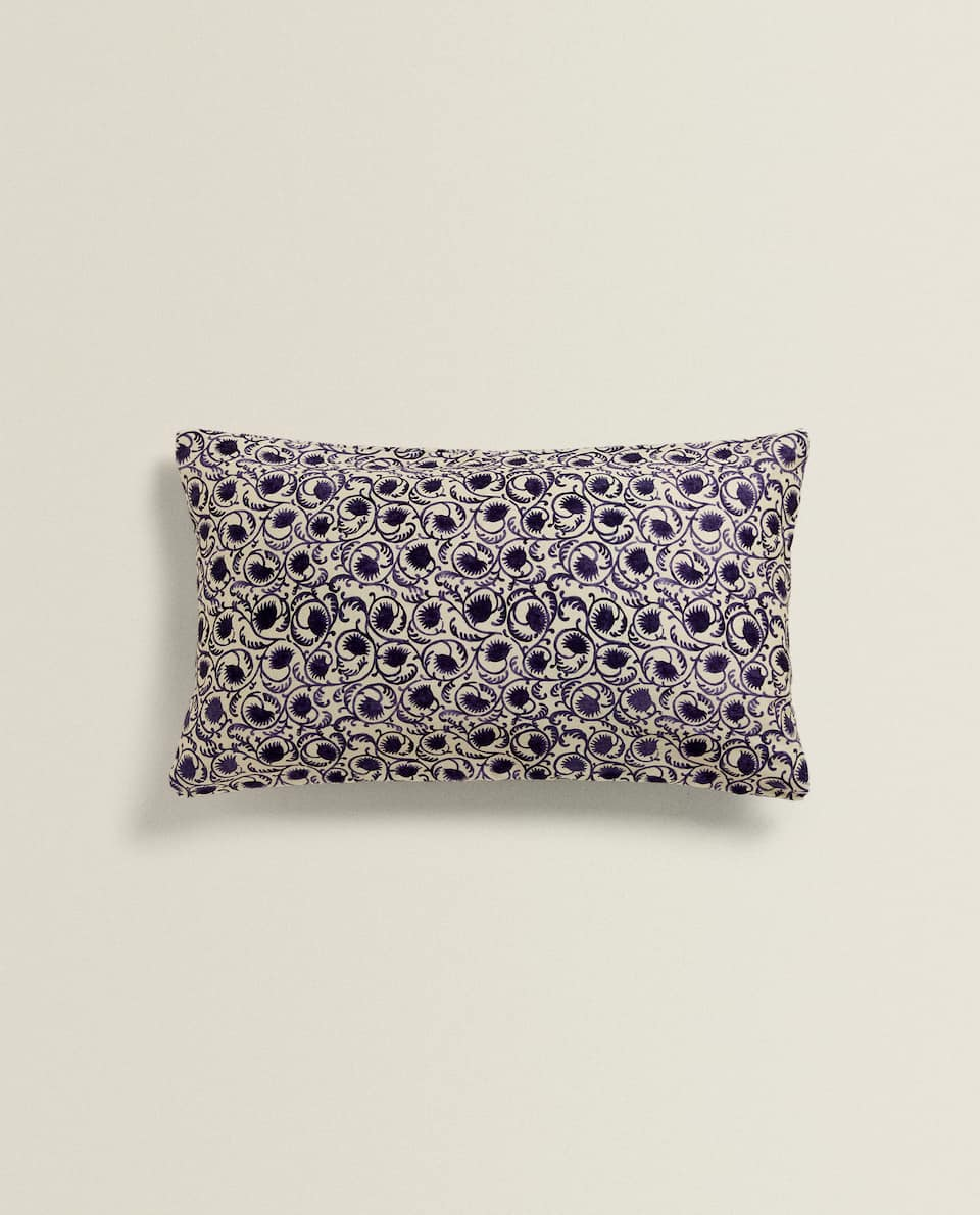 FLORAL SATIN CUSHION COVER