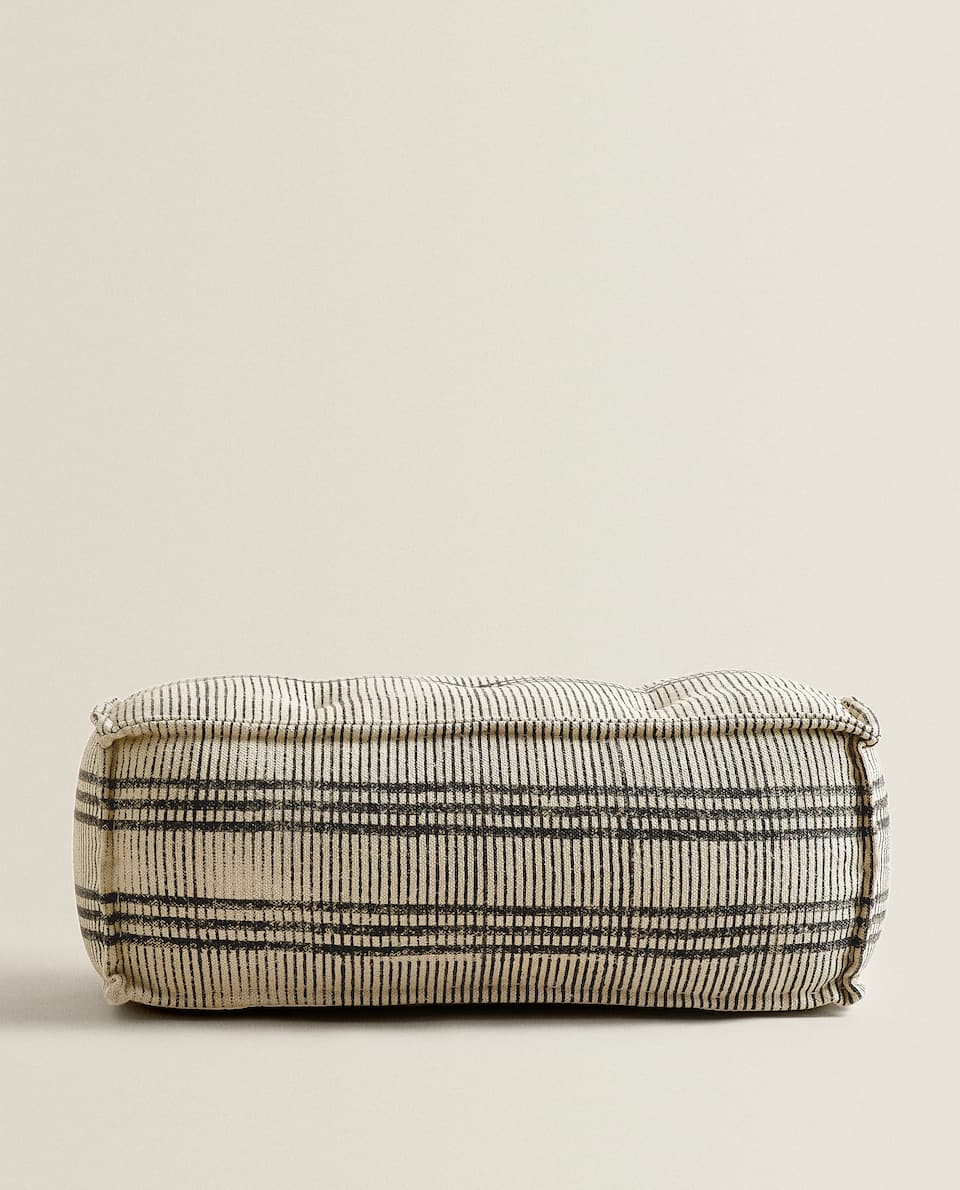 STRIPED POUFFE