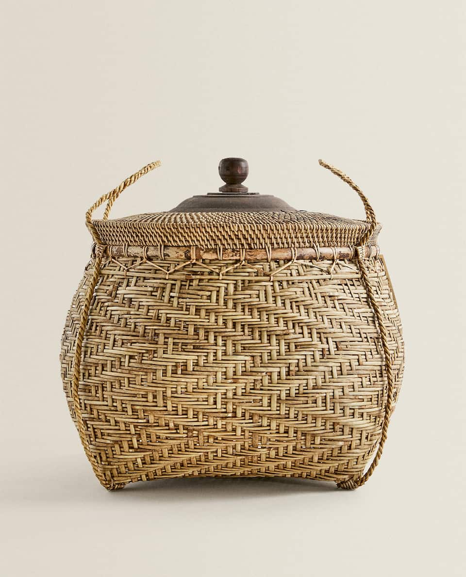 LARGE ROUND BASKET WITH LID