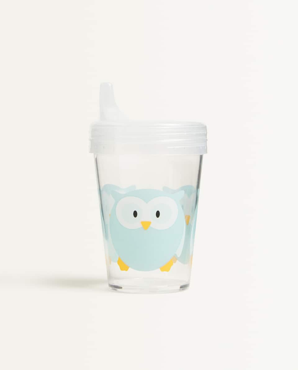 OWL CUP WITH LID