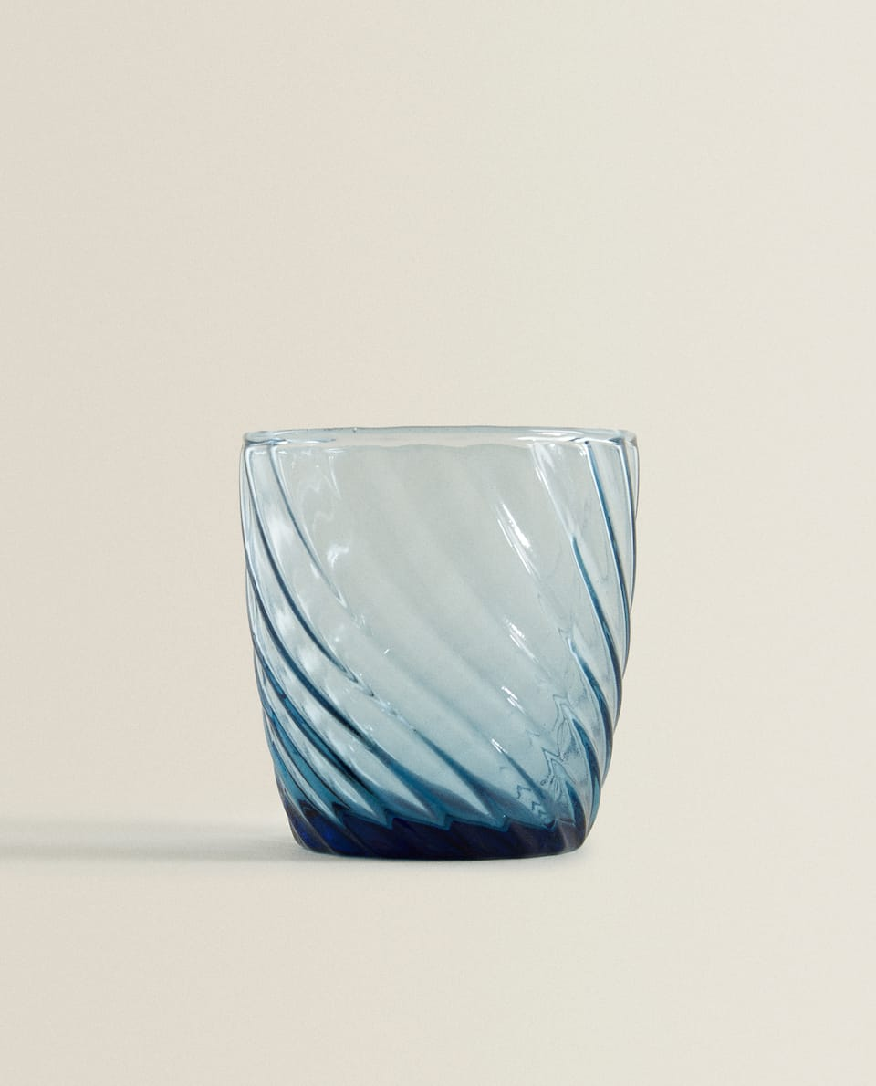 RAISED WAVE DESIGN TUMBLER