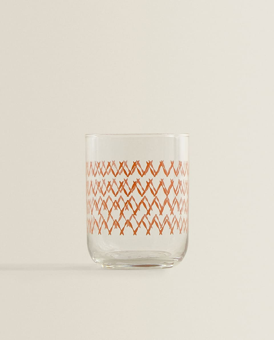 COLOURED ZIGZAG TUMBLER