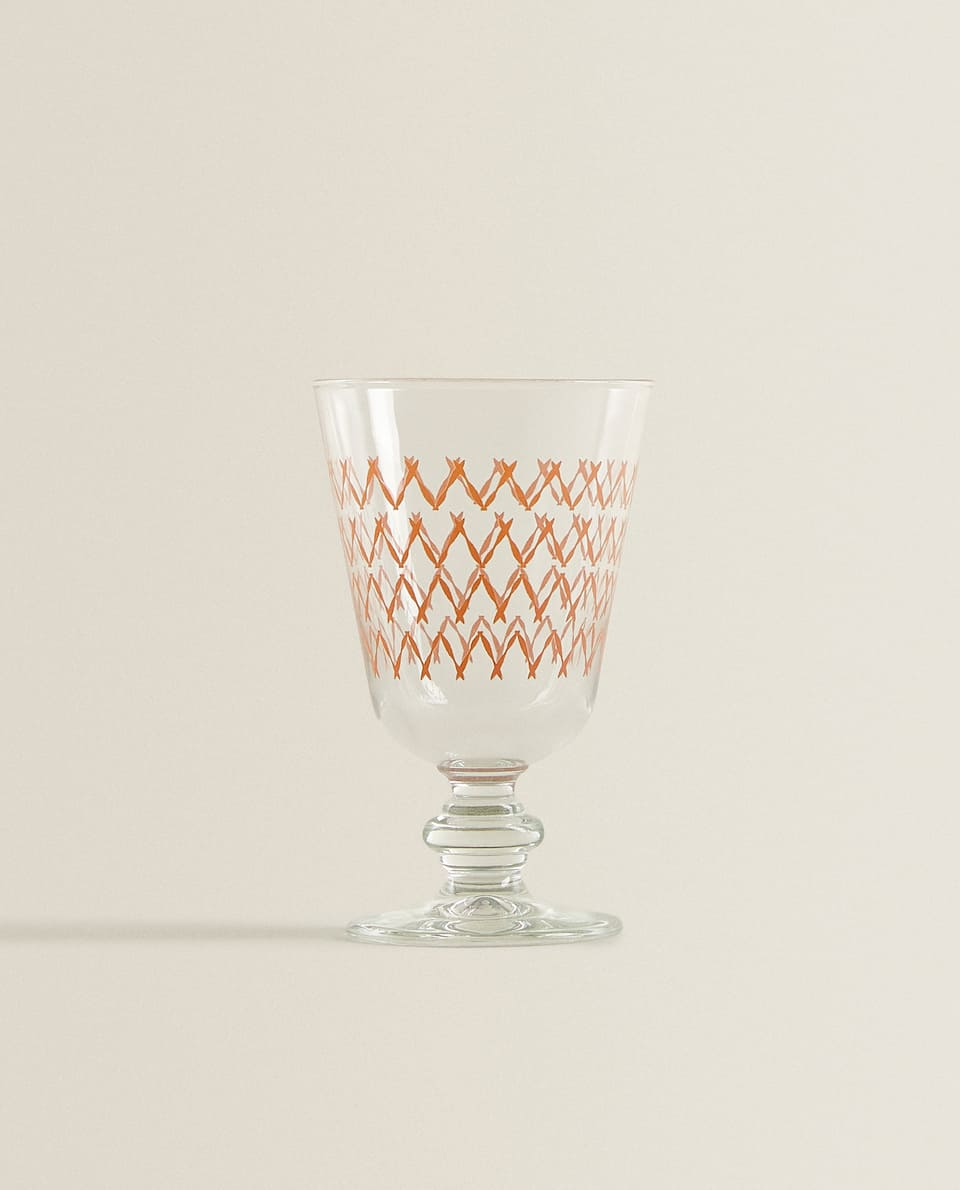 COLOURED ZIGZAG WINE GLASS