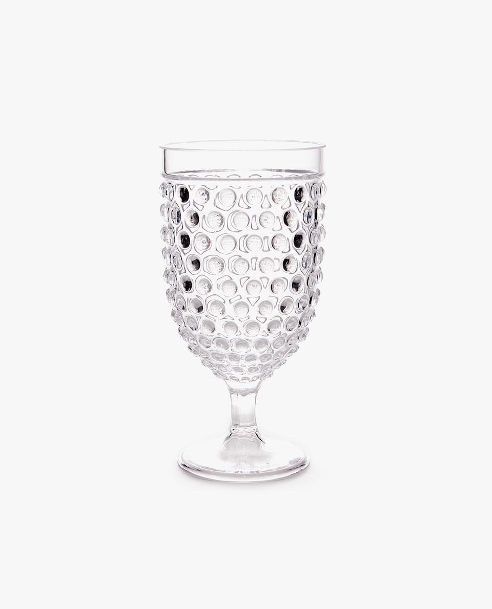 SPHERE DESIGN ACRYLIC WINE GLASS