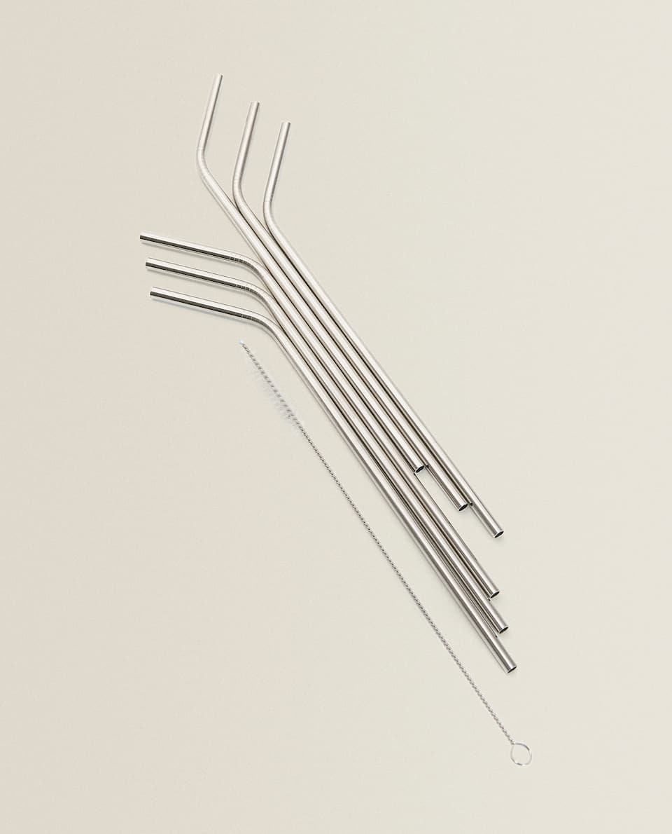 STAINLESS STEEL STRAWS (SET OF 6)