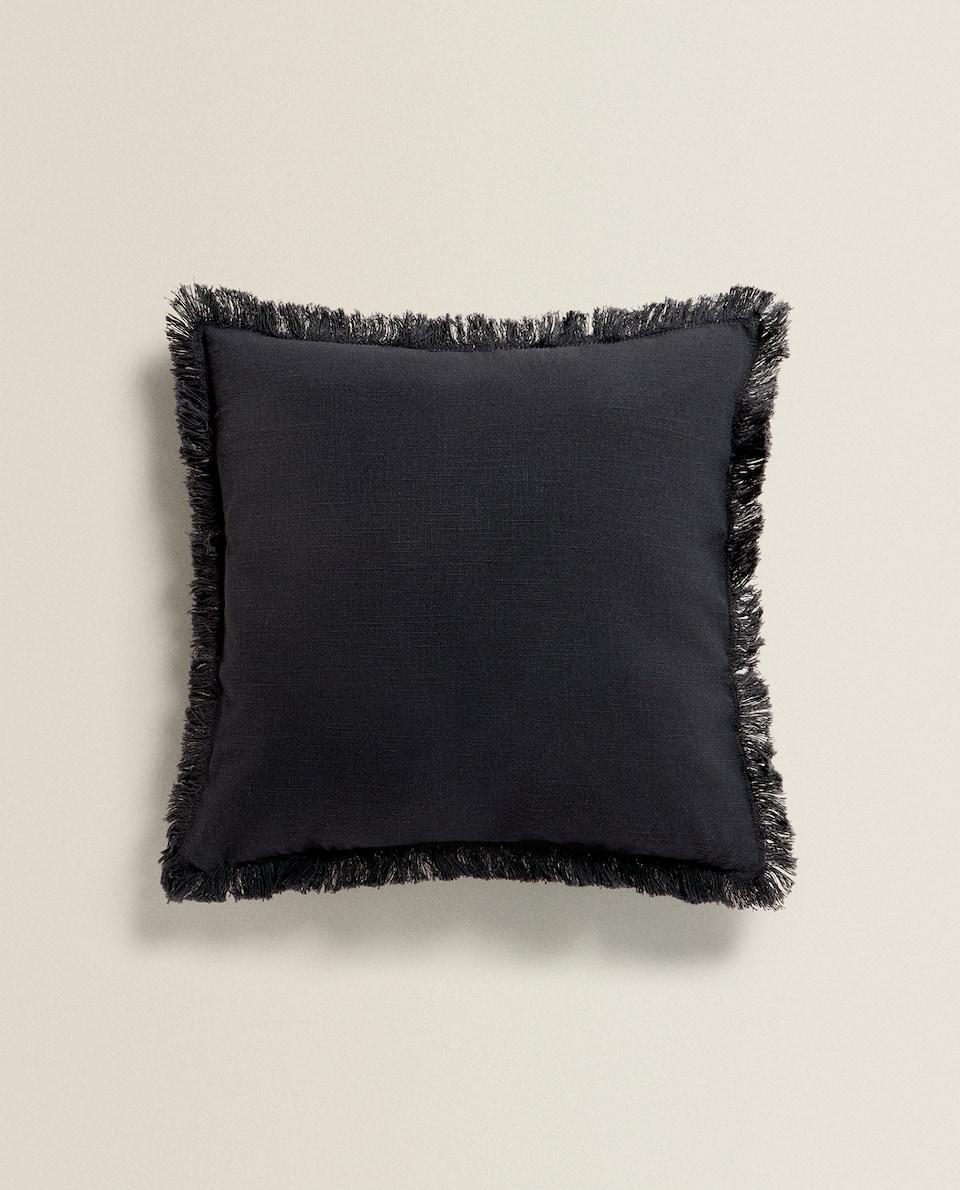 غطاء وسادة من القطن هدبات