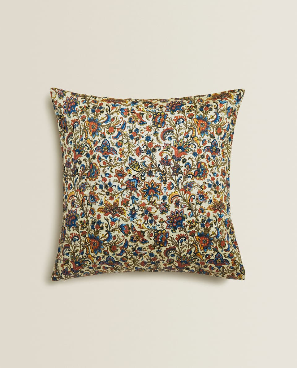 PAISLEY SATIN CUSHION COVER