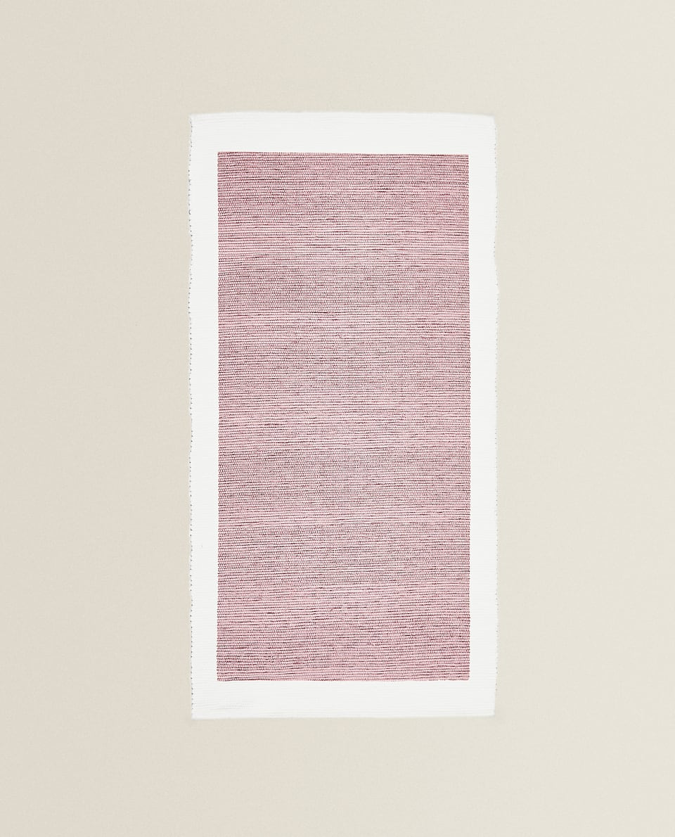 COTTON RUG WITH BORDER