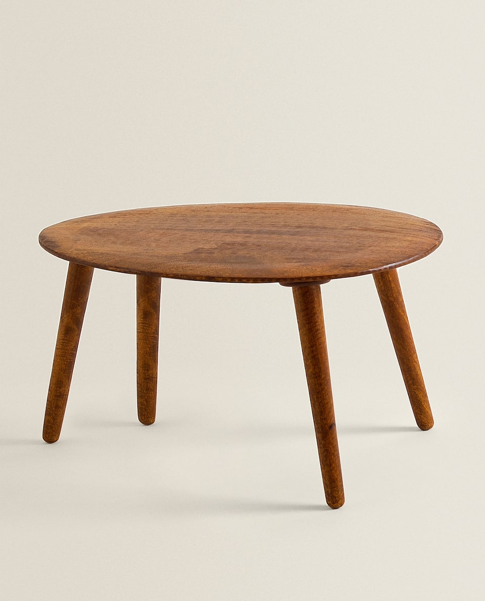 SIDE TABLE WITH WOODEN LEGS