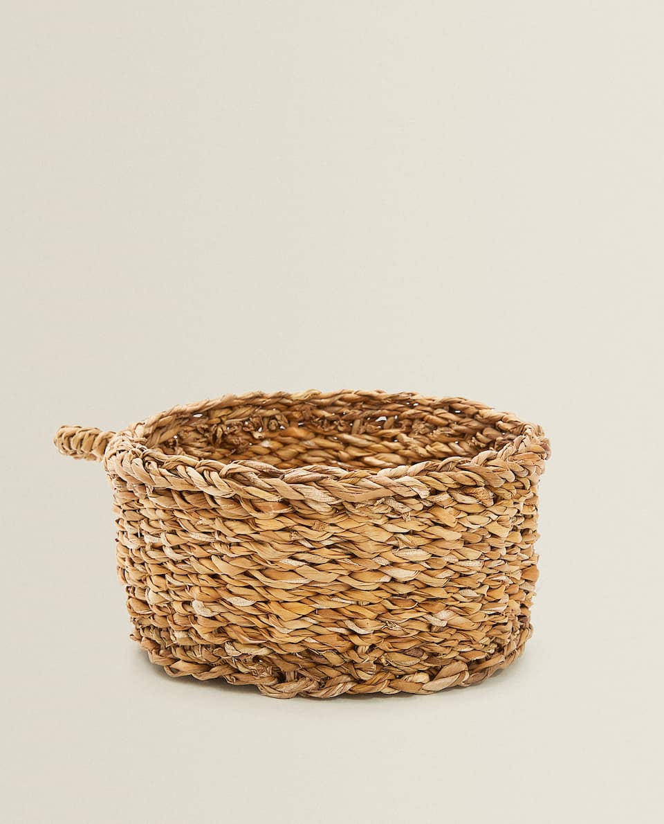 ROUND BASKET WITH SIDE HANDLE