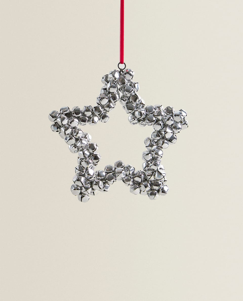 SLEIGH BELL STAR DECORATION