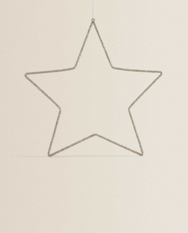 Beaded Star  Decoration   Holidays by Zara Home
