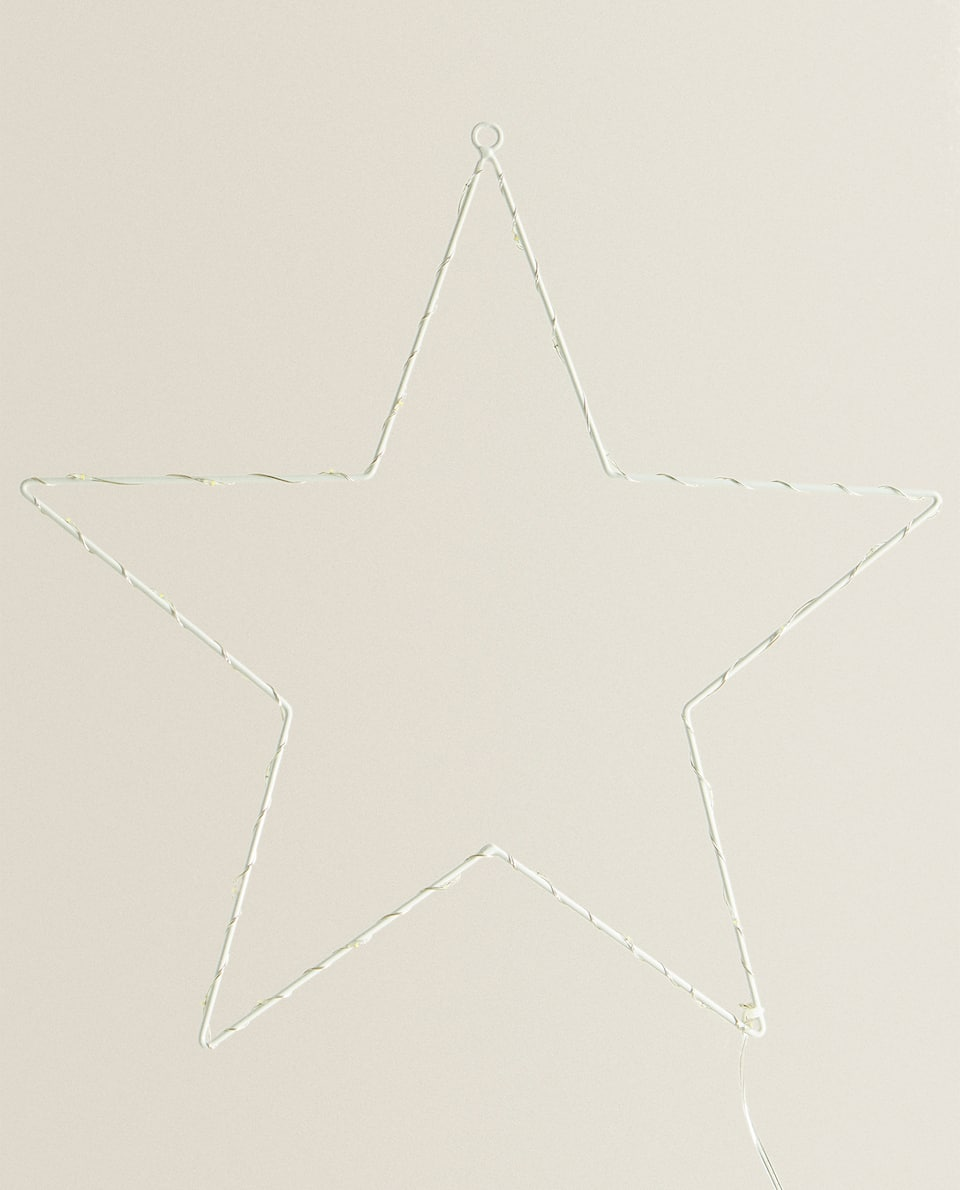 LIGHT-UP STAR DECORATION