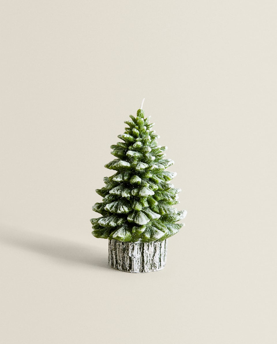 GREEN PINE TREE CANDLE